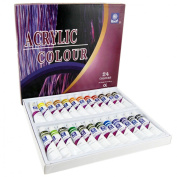 Acrylic Paint Set,24 Colours Non-toxic Professional Quality Acrylic Oil Paints
