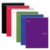 Five Star Notebooks, 1 Subject, College Ruled Paper, 100 Sheets, 28cm x 20cm - 1.3cm , Black, Red, Lime, Cobalt Blue, Royal Purple, White, 6 Pack