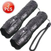 Tactical Flashlights iKustar T6 LED Handheld Torches Taclights Brightness Waterproof 5 Light Modes
