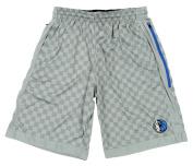 Dallas Mavericks NBA Zipway Men's Chequered Shorts, Grey