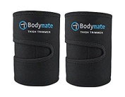 Bodymate Thigh Trimmers/Slimmers | Includes 2 premium Shapers Workout Enhancer Belt/Wrap Muscle Toning Leg support Fat Burning Body Weight loss Women & Men …