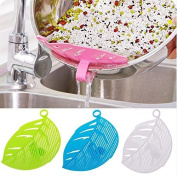 Liangxiang Creative Kitchen Tool 3 PCS Clip-on Leakproof Rice Washer Frame Water Filter Leaf Shaped Handle Type