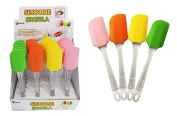 Diamond Visions 01-1118 Silicone Spatula with Clear Handle MultiPack Set in Assorted Colours