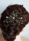 FXmimior Bridal Women Black Vintage Wedding Party Crystal Rhinestone Vintage Hair Comb Hair Accessories