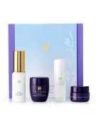 Tatcha SENSITIVE SKIN The Starter Ritual Soothing & Anti-Ageing Set : Camellia Cleansing Oil + Indigo Soothing Rice Enzyme Powder + The Essence + Indigo Soothing Triple Recovery Cream