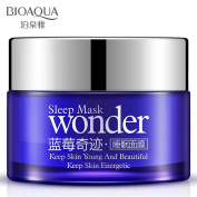 BIOAQUA Sleeping Wonder Mask Cream Nutritional blueberry Gentle Moisturising 50g