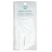 Earth Therapeutics Moisturising Hand Gloves, 1 pair, White