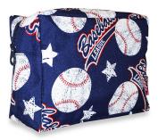 Ever Moda Navy Baseball Cosmetic Pouch