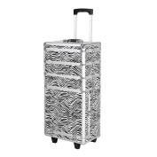 Alightup 4-in-4 Aluminium Rolling Wheel Makeup Case Cosmetic Organiser