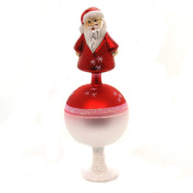 Inge Glas Nic on Top Santa Claus German Glass Christmas Tree Topper Decoration