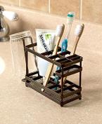 The Lakeside Collection Bronze Metal Bathroom Countertop Organiser