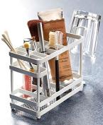The Lakeside Collection White Metal Bathroom Countertop Organiser