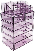 Sorbus (Acrylic Cosmetic Makeup and Jewellery Storage Case Display - Spacious Design - Great for Bathroom, Dresser, Vanity and Countertop