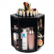 THEE 360 Degrees High Capacity Rotate Cosmetics Storage Box Jewellery Box Case