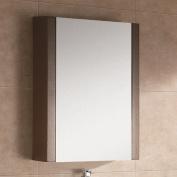 Fine Fixtures MOMC24WE Modern Modena Medicine Cabinet, 60cm , Wenge