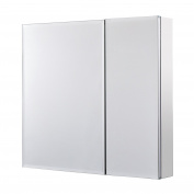 Utopia Alley Rustproof Medicine Cabinet, Glass Shelves, Mirrored Sides, Bi View, 80cm L