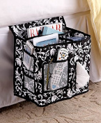 The Lakeside Collection Damask Quilted Bed Storage Caddy