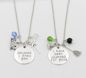 "Ingooood Necklace Set,""Because I knew you""""I have been Change for Good"" Necklace Pendant for Best Friend"