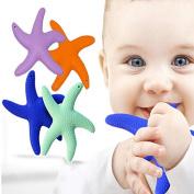 Newsfana Starfish Teeth rubber silicone Sensory Teether Activity Toy