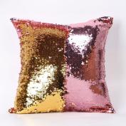 """SMYTShop Sequins Pillow Case, Play Tailor Double Colour Glitter Paillette Sequins Pillowcase Throw Cushion Cover 40cmX40cm/15.74X15.74"""""""