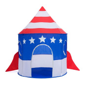 Kids Play Tent Space Rocket Indoor Outdoor Playhouse Pop Up Dome Tent for Princess Prince