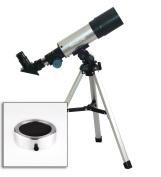 Twinstar EclipseFINDER 50mm Compact Refractor Telescope, Silver