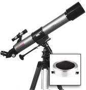 Twinstar EclipseFINDER 70mm Refractor Telescope, Silver