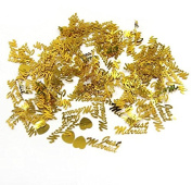 350 Pcs Table Party Scatters Confetti Gold Just Married With Heart For Wedding Party Table Decoration