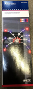 LightShow 28-Light LED Red White Blue Fireworks Hanging Light Decor Set Battery Operated