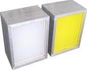 2 Pack Silk Screen Printing Screens 2030 CM Aluminium Frames- 350 Yellow Mesh YLZ