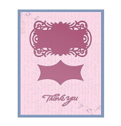 "Ultimate Crafts ""Thank You Tag Set"" Impression Die, Metal, Black"