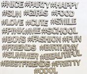 Creative Embellishments Social Hashtags Laser Cut Chipboard - 22 piece set