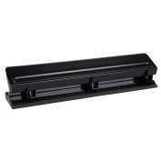 Adjustable Hole Punch - Three Hole Punch - 3 Hole Punches, Black