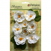 Botanica Ranunculus Flowers 2.5cm To 4.4cm 8/Pkg-White