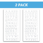 Peel and Stick Glitter Alphabet Letter Stickers for Grad Cap - Assorted Colours