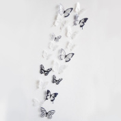 hleCKL 2017 18 Pieces 3D Butterfly Decor Wall Sticker Home Wall Decals