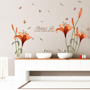 hleCKL 2017 Flower Wall Stickers Removable Decal Home Decor DIY Art Decoration