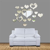 hleCKL 2017 Home 3D Removable Heart Art Decor Wall Stickers Living Room Decoration
