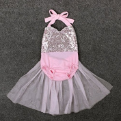 Zooarts Toddler Baby Kids Girls Dress Princess Party Tutu Dresses Outfits for 0-24 Months Baby (90
