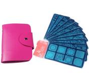 Beauty Leader 10 Pcs Nail Stamp Plates + 1 Pcs 20 Slots Rose Red Nail Plate Case Nail Art Design Nail Plates Stamping Set