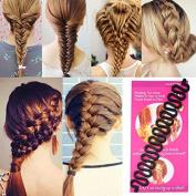 Topeakmart Centipede Braid Twist Hair Braider DIY Hair Styling Tool Black
