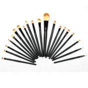 Lychee 20Pcs Black Blending Foundation Eye shadow Eyeshadow Eyeliner Lip Makeup Brushes