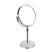 AlierKin 18cm Large Tabletop Two-sided Vanity Swivel Elastic Makeup Mirror with 7x Magnification, Chrome Finish