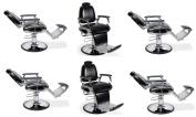 Barber Chairs 6 Black DELANO Heavy Duty Hydraulic Recline Barber Shop Salon Furniture …