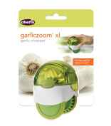 Chef'n GarlicZoom X-Large Garlic Chopper Mincer Shredder, Green, Dishwasher Safe