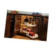 Rev-A-Shelf 5372-15-L 5372 Series Left Handed Blind Corner Two Tier Base Cabinet, Grey