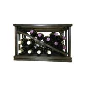 Wine Cellar Innovations Mini-Stack Series Midnight Black Stain Open Diamond Stackable Wine Rack