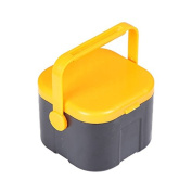 Mural Art Plastic Bait Box Container Fishing Tackle Earthworm Worm Storage Box Double Layer 5 Compartments with Clip