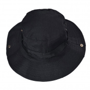 Chen Rui(TM) Unisex Fishing Sun Boonie Hat Bucket hat with Side Snap Chin Cord for Outdoors Hiking Hunting Travelling