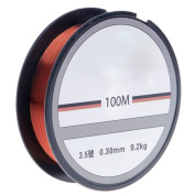 Mimgo Red Monofilament Fishing Line, Superior Mono Nylon Material Strong, 100M Abrasion Resistant Mono Line - 0.30mm